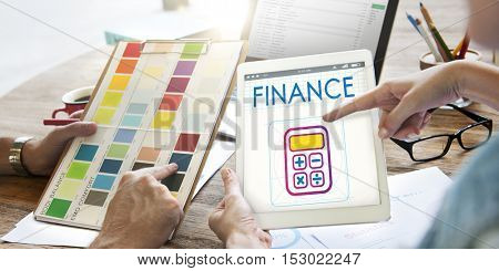 Finance Accounting Calcualtor Calculation Graphic Concept