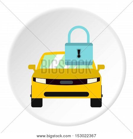 Car is under protection icon. Flat illustration of car is under protection vector icon for web