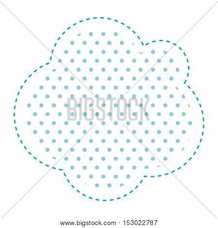 Dotted silhouette cloud callout of thought vector illustration