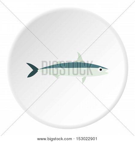 Smelt fish icon. Flat illustration of smelt fish vector icon for web