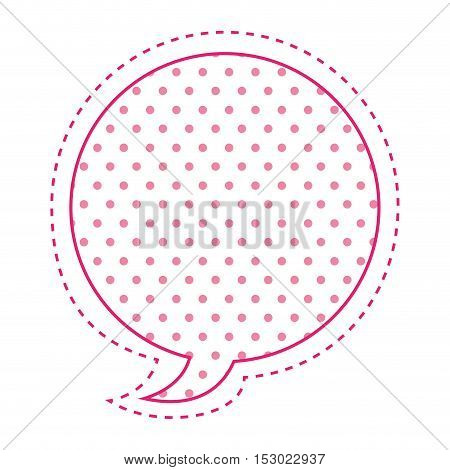 Dotted silhouette oval callout for dialogue vector illustration