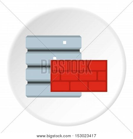 Protection of database systems icon. Flat illustration of protection of database systems vector icon for web