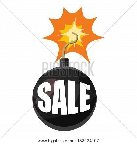 Bomb sale icon. Cartoon illustration of bomb sale vector icon for web