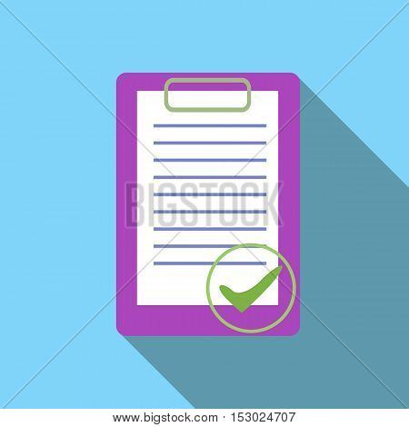 Document is ready icon. Flat illustration of document is ready vector icon for web