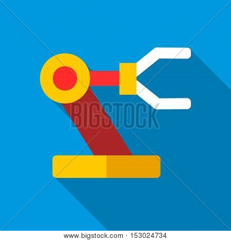 Robotic arm icon. Flat illustration of robotic arm vector icon for web
