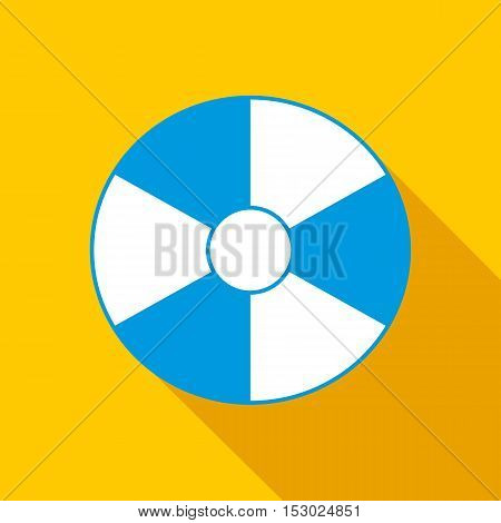 Beach ball icon. Flat illustration of beach ball vector icon for web