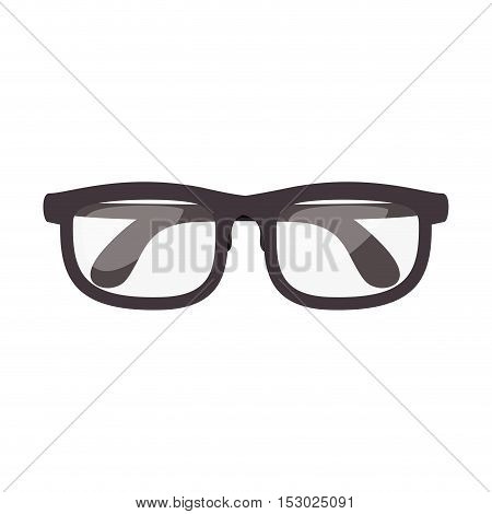 closed glasses with contour black vector illustration
