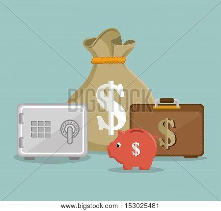 set save the money icon design vector illustration eps 10