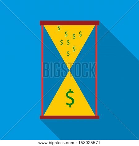 Time is money icon. Flat illustration of time is money vector icon for web