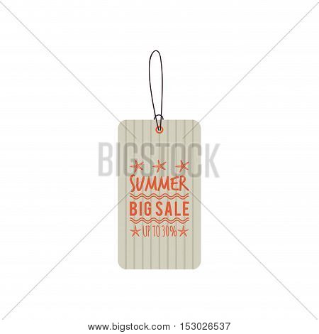 Abstract summer sale label on a white background