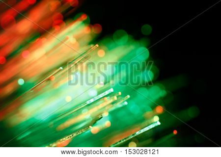 Defocused Abstract Background Of Fiber Optic Cables