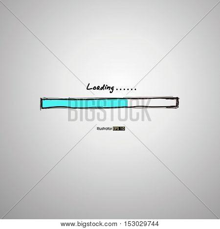 Sketch progress bar, business concept, Vector illustration.