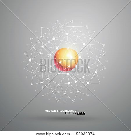 Abstract mesh background concept,science and technology,Vector illustration.