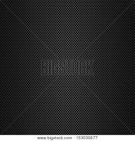 Vector abstract background. Dark gray grid or gray lines on a dark background. Eps 10.