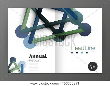 Molecule annual report. Vector abstract background