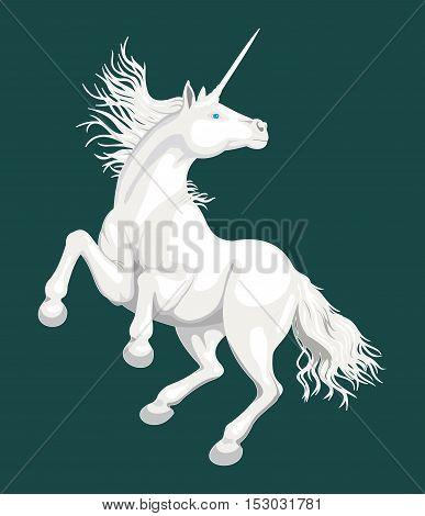 Unicorn - Vector illustration - EPS .