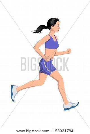 Woman running - Vector illustration - EPS .