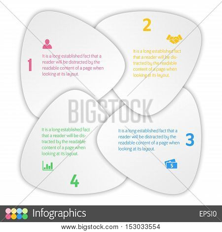 four steps cycle infographic layout concept vector illustration