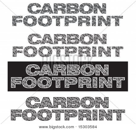 Carbon footprint words with footprints in side