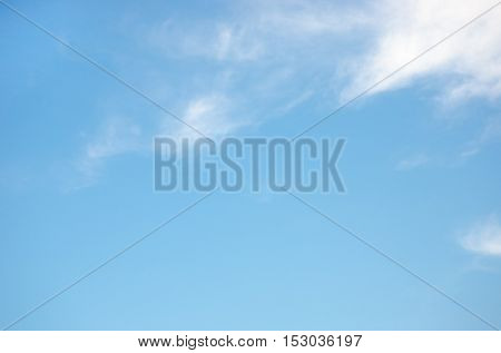 blue sky with cloud Template and space for message