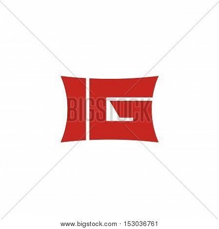 IG bold letter initial logo design, IG letter