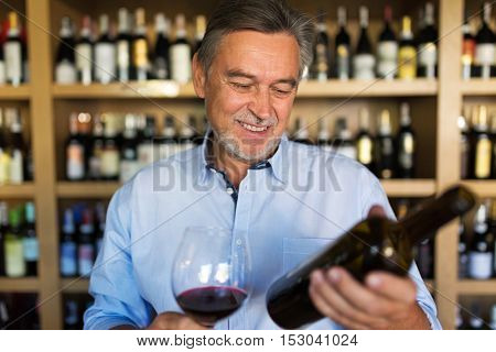 Man with a glass of red wine