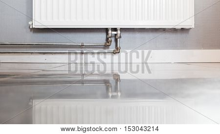 Heating Radiator With Reflection