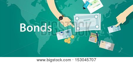 bonds company corporate funds financing vector paper