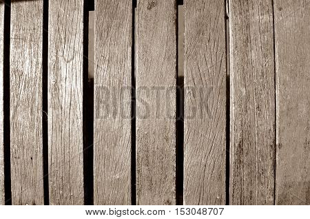 Background art on walls built with wood.