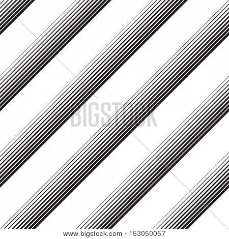 Seamless Diagonal Stripe Pattern. Vector Black and White Background. Abstract Line Design