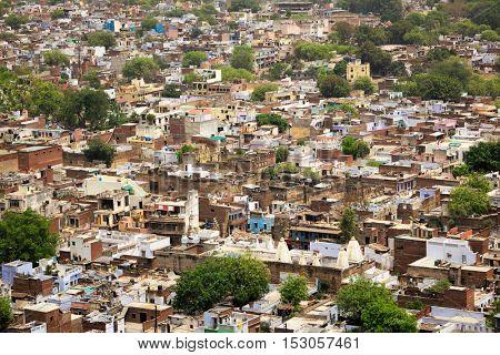 Aerial view of Gwalior city. Gwalior, Madhya Pradesh, India
