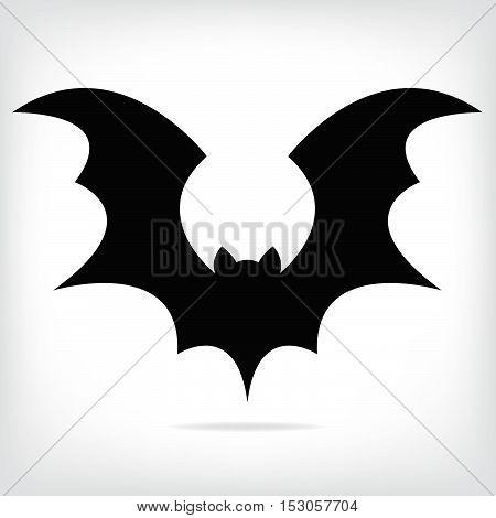 Halloween flying  black bat silhouettes. vector illustration