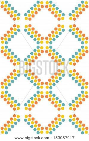 Abstract background with striped seamless color dots pattern