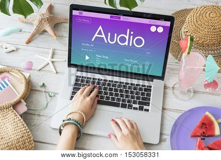 Radio Podcast Music Joy Concept