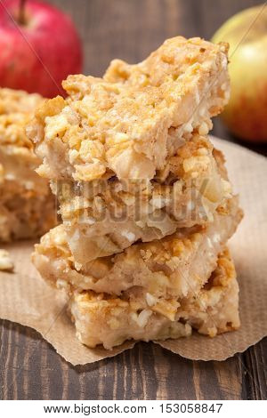apple pie with cottage cheese and pine nuts