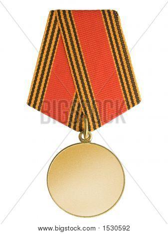 Medalla de oro en blanco
