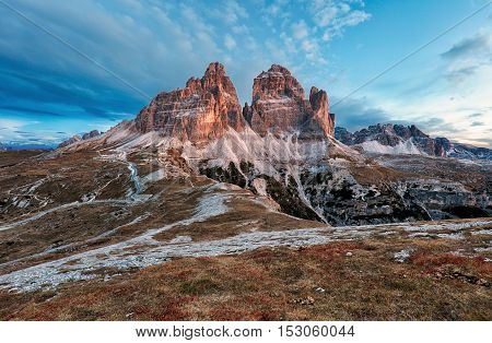 Mountain landscape - Tre Cime di Lavaredo Dolomites Italy