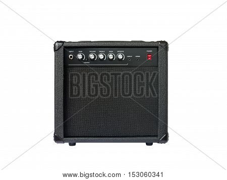 Small Guitar Amplifier Isolated On White Background