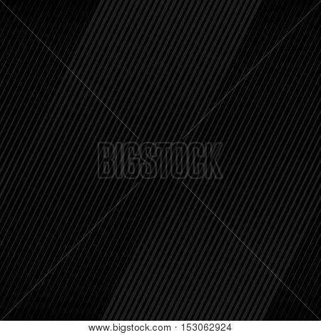 Vector Black Halftone Line Transition Abstract Wallpaper Pattern. Seamless Black Irregular Lines Background.