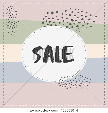 Sale banner graphic style pastel coloe brush stroke ink