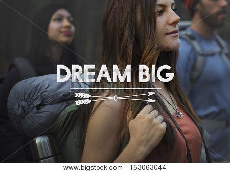 Dream Big Aspirations Goal Target Motivation Concept