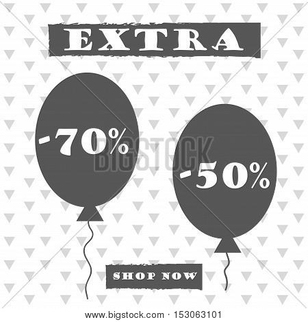 Sale banner graphic style baloons. vector illustration
