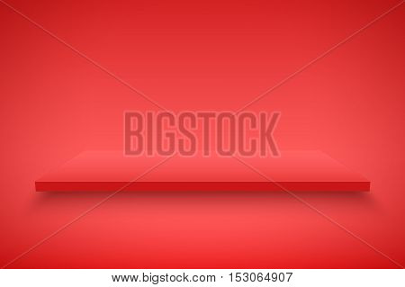 Light box with red platform on red backdrop. Editable Background Vector illustration.