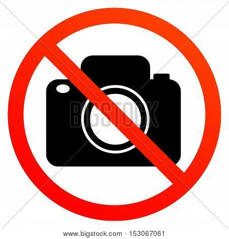 No photography sign or symbol, vector illustration