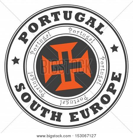 Grunge rubber stamp with word Portugal, South Europe inside, vector illustration