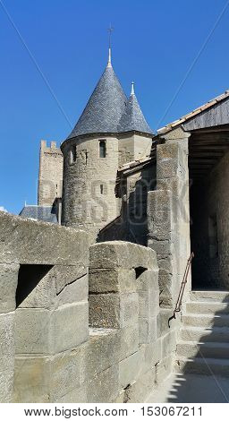 Medieval castle of Carcassonne Languedoc -Roussillon France
