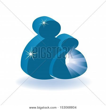 Vector human symbol on white background - illustration