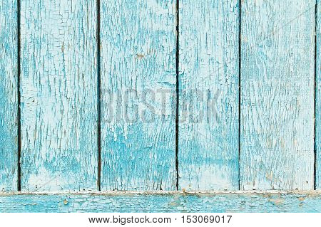 Old blue wood plank background for use as background.