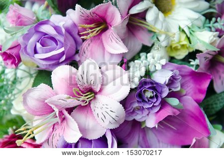 Bunch Of Flowers Arrangement For Decoration