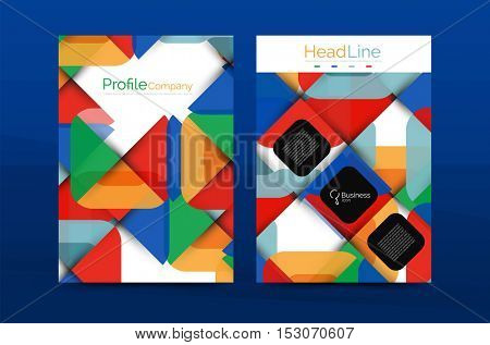 Business company profile brochure template, corporate brochure design